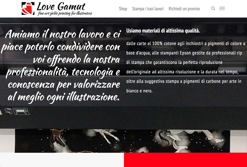 lovegamut stampa fine art giclee on line per illustratori